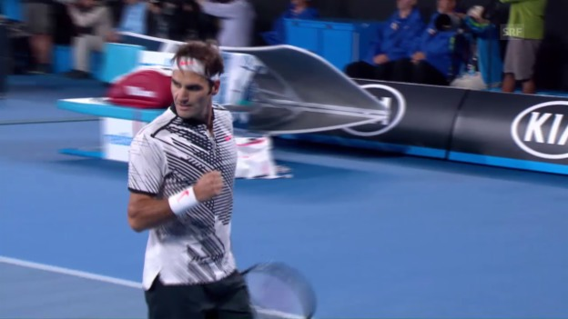 Video «Die Live-Highlights bei Federer - Wawrinka» abspielen