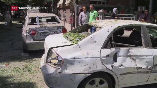 Video «Selbstmordanschlag in Damaskus» abspielen