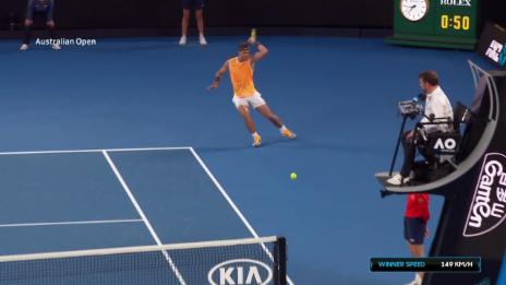 Link öffnet eine Lightbox. Video Tsitsipas' Angriff gut, Nadals Konter besser abspielen