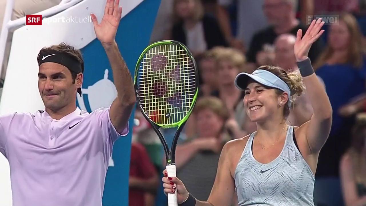 Erfolgreicher Auftakt für Federer und Bencic am Hopman Cup