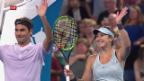 Video «Erfolgreicher Auftakt für Federer und Bencic am Hopman Cup» abspielen
