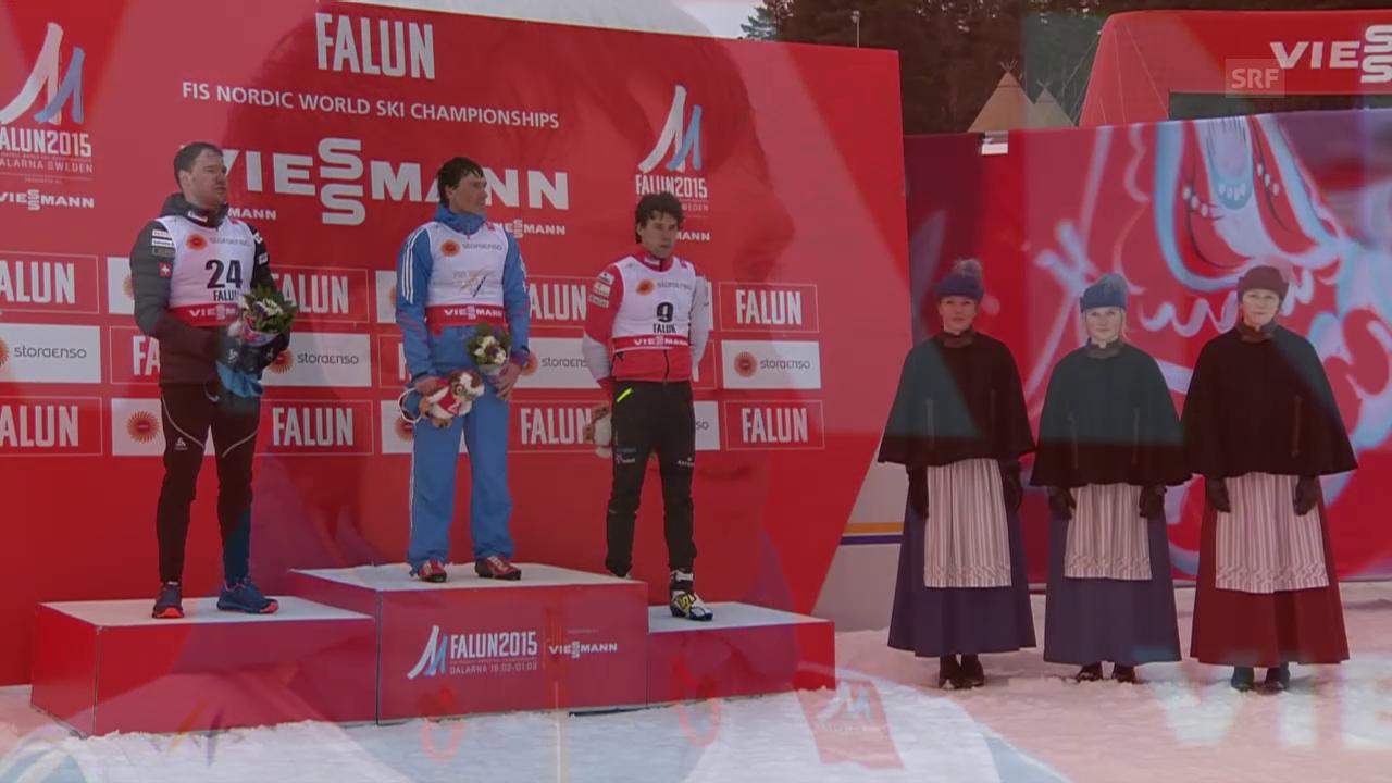 Nordisch-WM: Skiathlon Männer, Flower-Zeremonie