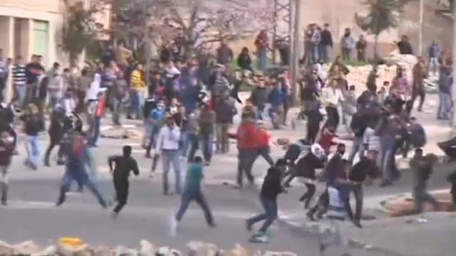 Palästinenser protestieren