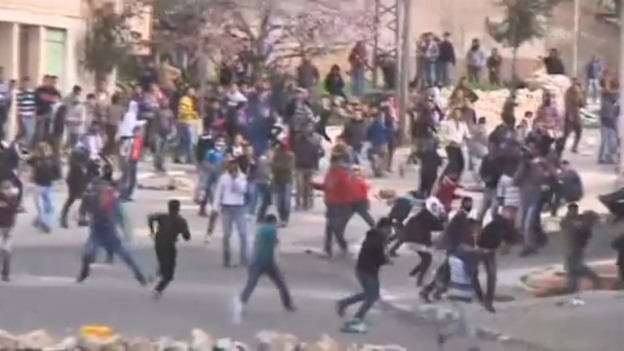 Video «Palästinenser protestieren» abspielen