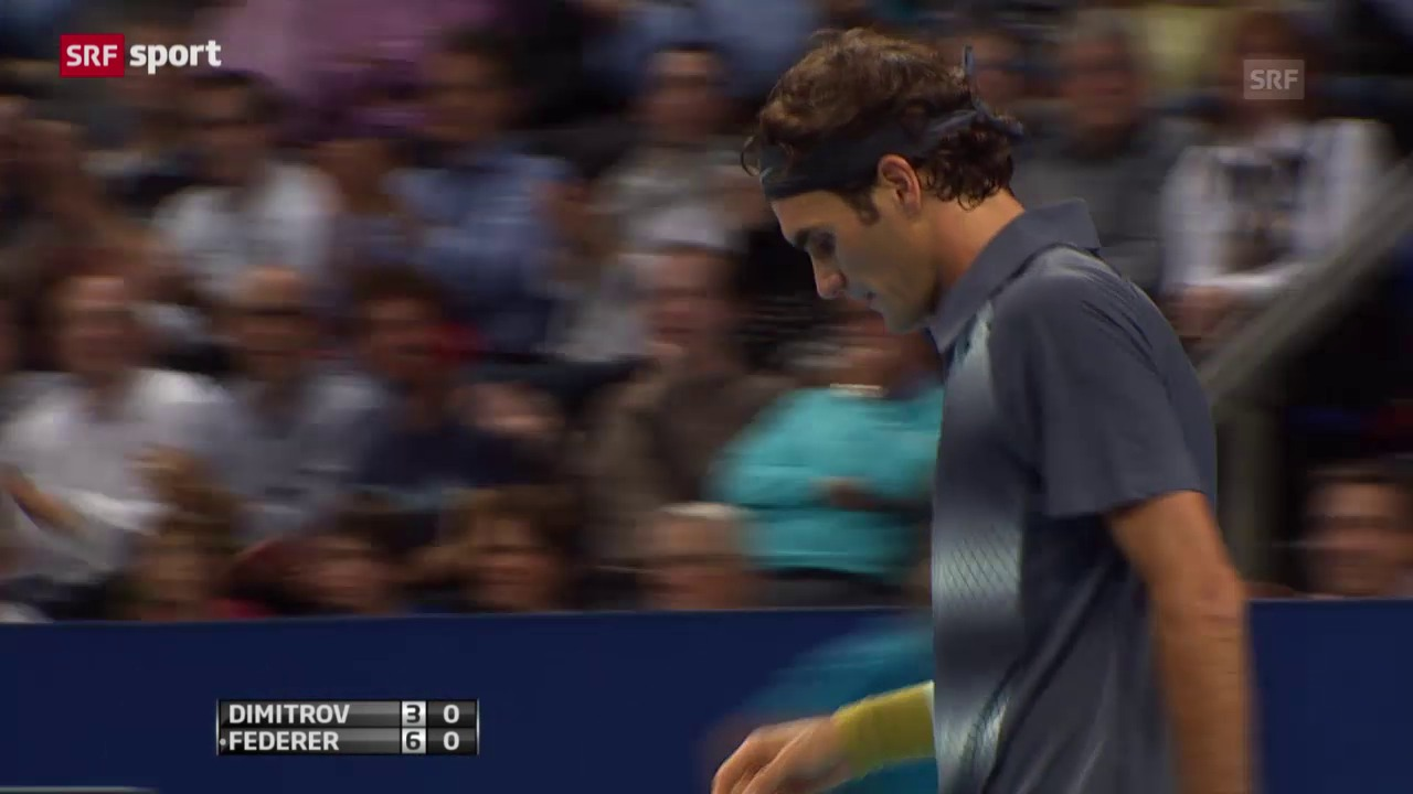 Tennis: ATP Basel 2013, Federer - Dimitrov («sportaktuell» vom 10.01.2015)