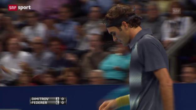 Video «Tennis: ATP Basel 2013, Federer - Dimitrov («sportaktuell» vom 10.01.2015)» abspielen