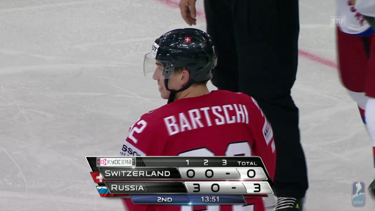 Eishockey: Sven Bärtschi debütiert gegen Russland