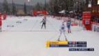 Video «Langlauf-Staffel: Letzter Wechsel und Schlussphase («sportlive»)» abspielen