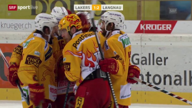 Video «Eishockey: Liga-Qualifikation, Rapperswil-Jona Lakers - SCL Tigers, Spiel 1» abspielen