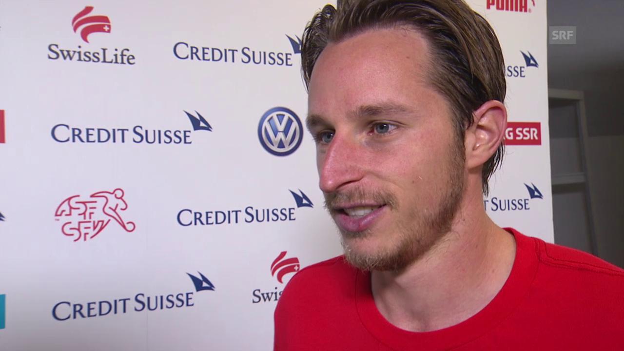 Fussball: EM-Qualifikation, Schweiz - San Marino, Interview mit Luca Zuffi