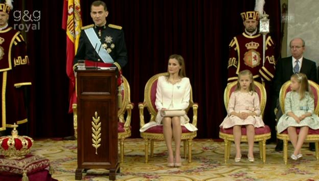 Video «Die erste Rede von Felipe VI.» abspielen