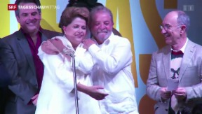 Video «Brasiliens Präsidentin Dilma Rousseff schafft Wiederwahl» abspielen