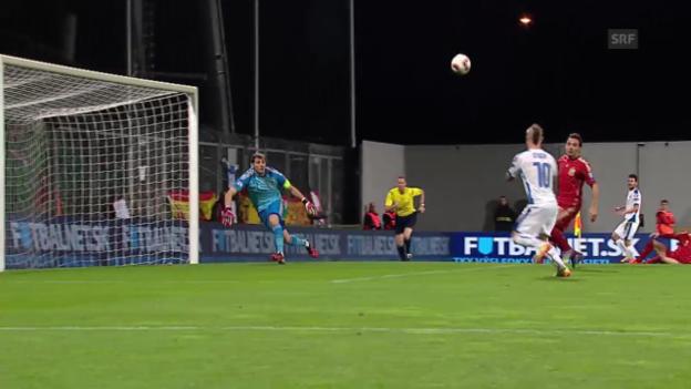 Video «Fussball: EM-Quali, Slowakei - Spanien» abspielen