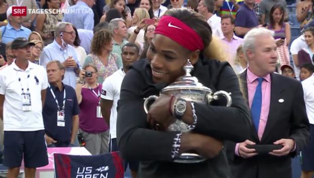 Video «Williams gewinnt US-Open zum dritten Mal in Folge» abspielen