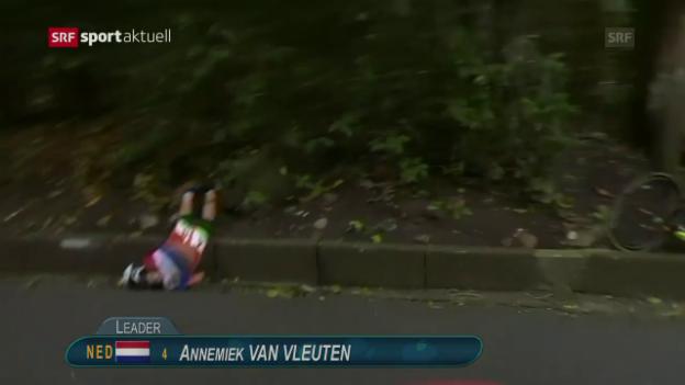 Video «Annemiek van Vleutens Horrorsturz an Olympia» abspielen