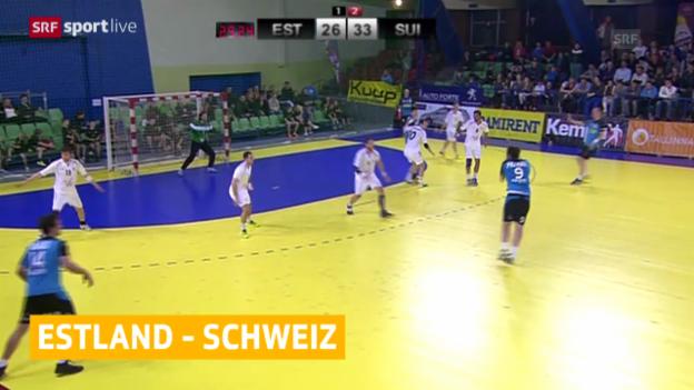 Video «Handball: EM-Vorqualifikation, Schweiz - Estland» abspielen
