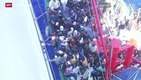 Video «Eine Flüchtlingstragödie im Mittelmeer» abspielen