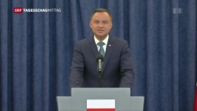 Video «Polens Präsident blockiert Justizreform» abspielen