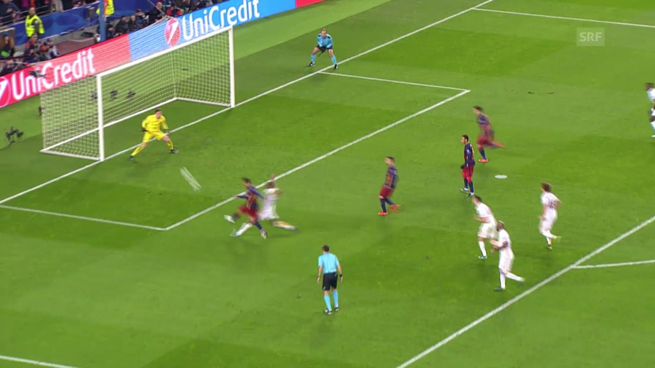 Fussball: Champions League, Barcelona - Roma, 6:0 Adriano