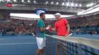 Video «Wawrinka erspielt sich Duell mit Nishikori» abspielen