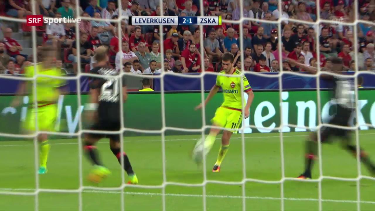 Leverkusen verspielt 2-Tore-Führung