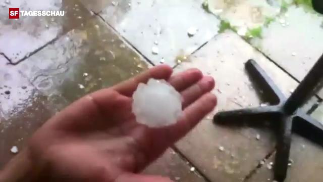Regen und Hagel überschütten die Schweiz
