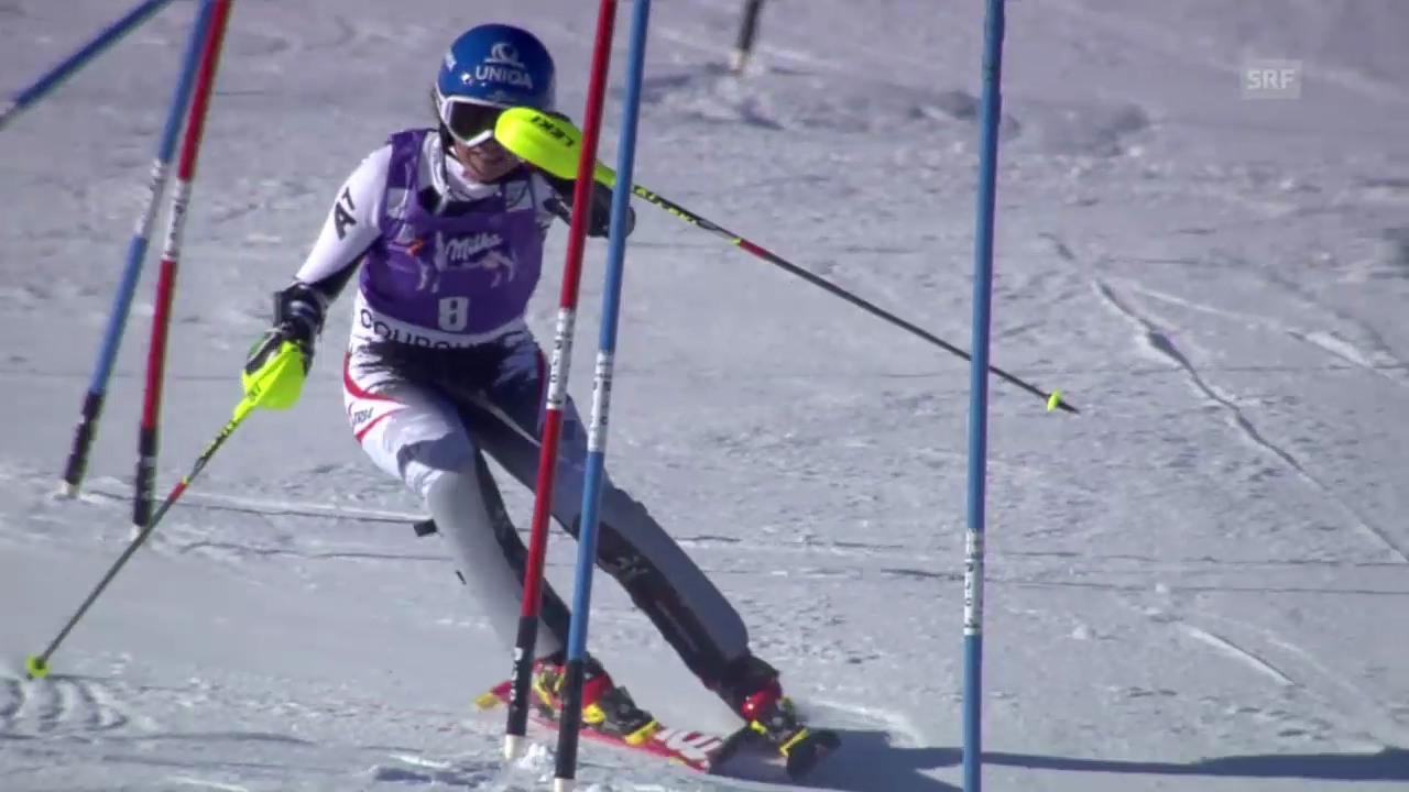 SKI: Weltcup, Slalom Frauen in Courchevel