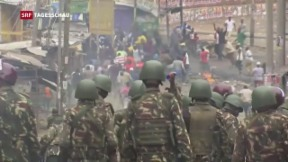Video «Gewalt nach Wahlerfolg von Kenyatta» abspielen