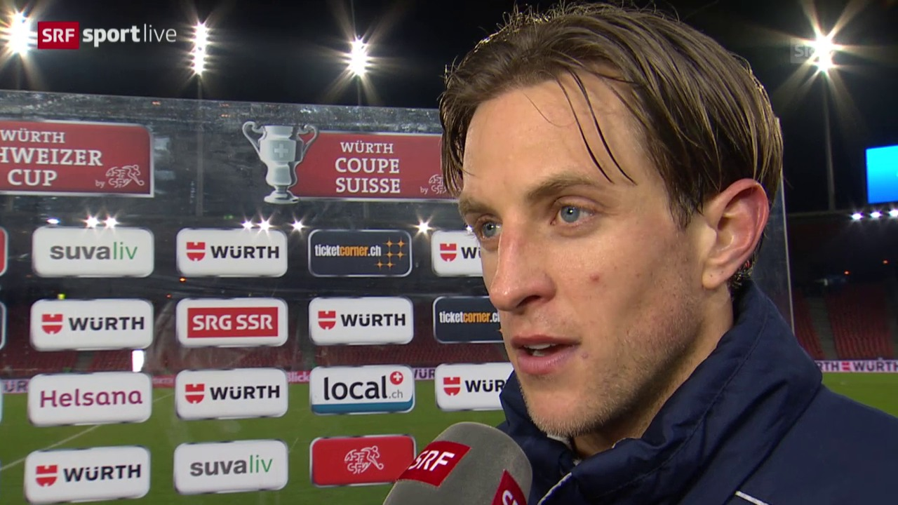 Fussball: Cup, FCZ-Sion, Interview Ziegler