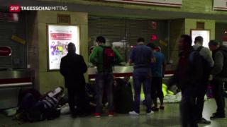 Video «Flüchtlingsandrang in München » abspielen