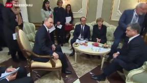 Video «Krisengipfel in Minsk: Verhandlungen mit ungewissem Ausgang» abspielen