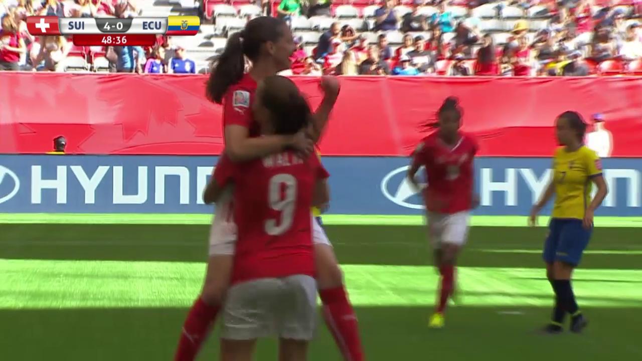 Fussball: Frauen-WM, Schweiz-Ecuador, alle Tore