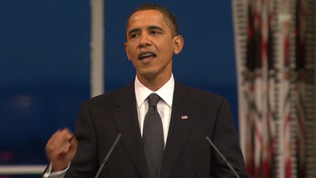 Video «Von seinen Gegnern wird Obama oft der Kriegspräsident genannt» abspielen