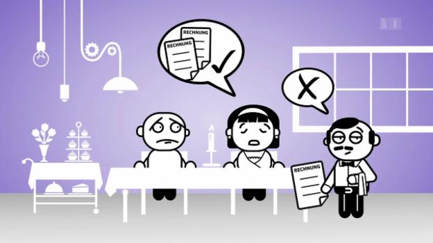 Video ««Darf man das?»: Im Restaurant auf getrennten Rechnungen bestehen» abspielen