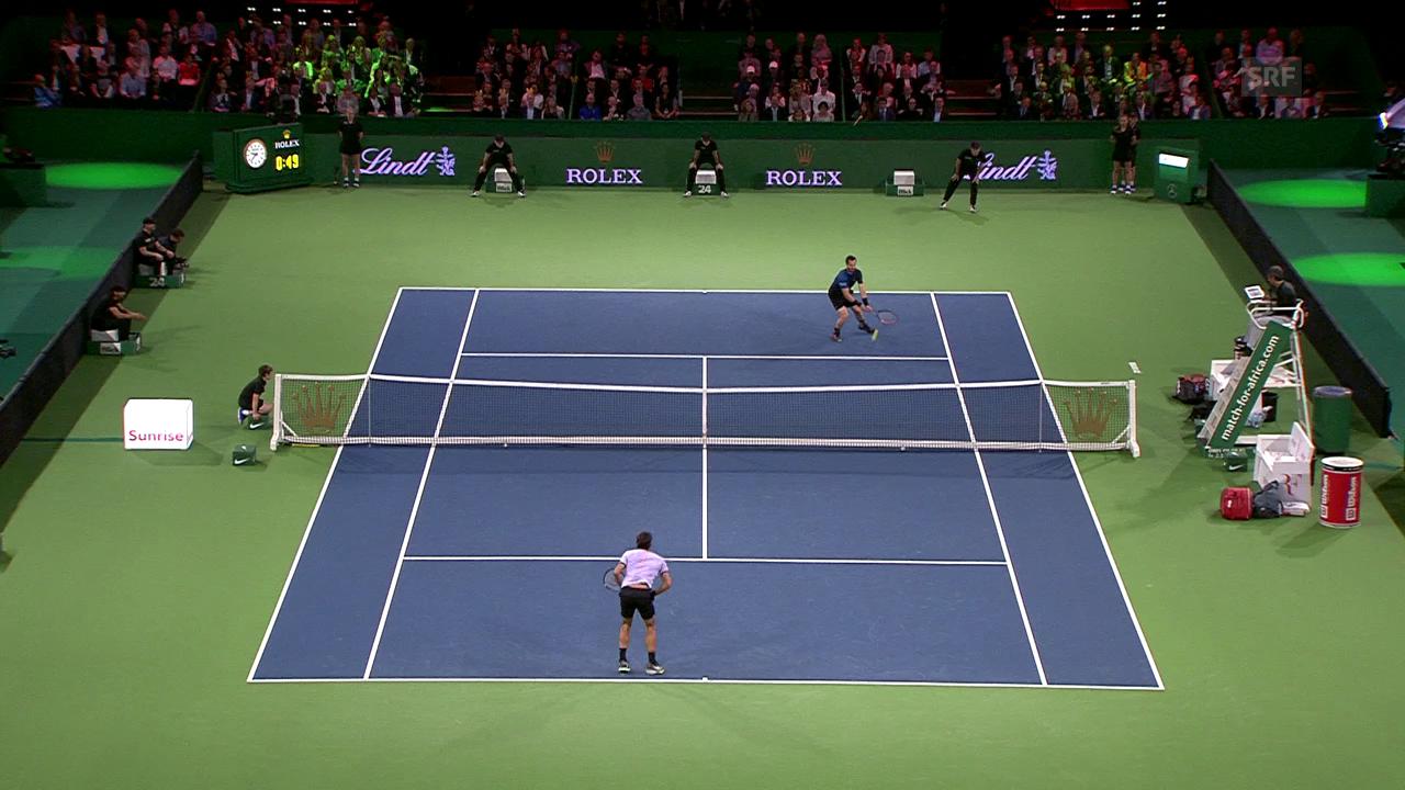 Murray schlägt Federer mit dessen Waffe