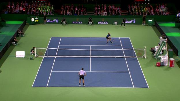 Video «Murray schlägt Federer mit dessen Waffe» abspielen