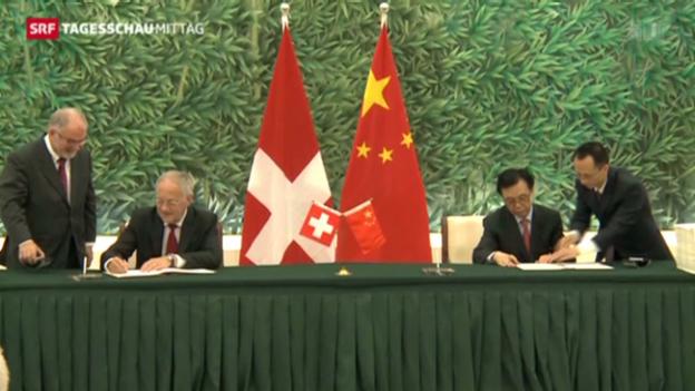 Video «Freihandelsabkommen mit China unterzeichnet» abspielen