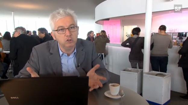 Video «Hervé Lebret, Verantwortlicher des EPFL-Förderprogramms für Start-ups, zur Schaffung von Arbeitsplätzen dank Jungunternehmen (frz.)» abspielen
