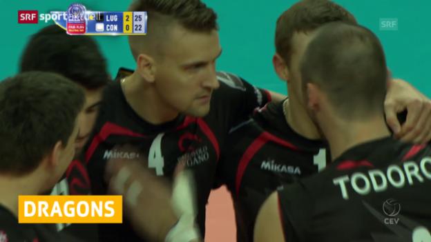 Video «Volleyball: CL, Lugano - Constanta» abspielen