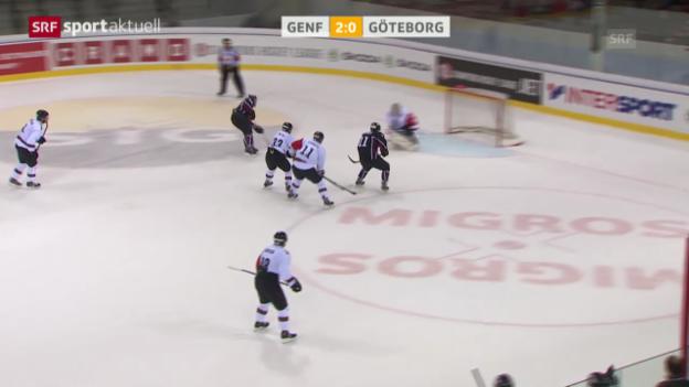 Video «Eishockey: CHL, Genf-Servette - Frölunda («sportaktuell»)» abspielen