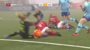 Video «Die Schweiz spielt gegen die Niederlande 1:1» abspielen