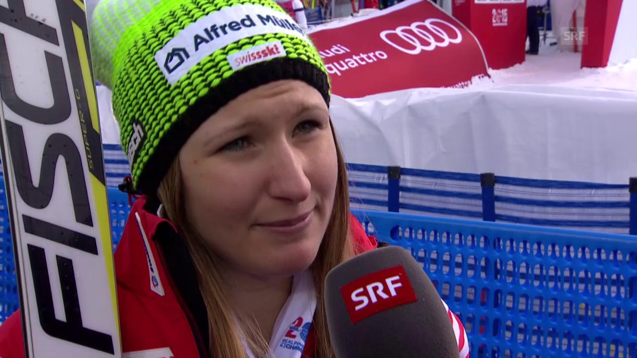Ski Alpin: WM 2015 Vail/Beaver Creek, Super-G Frauen, Interview mit Priska Nufer