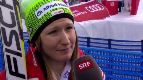 Video «Ski Alpin: WM 2015 Vail/Beaver Creek, Super-G Frauen, Interview mit Priska Nufer» abspielen