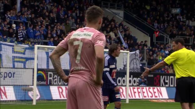 Video «Fussball: Luzern - GC («sportpanorama»)» abspielen
