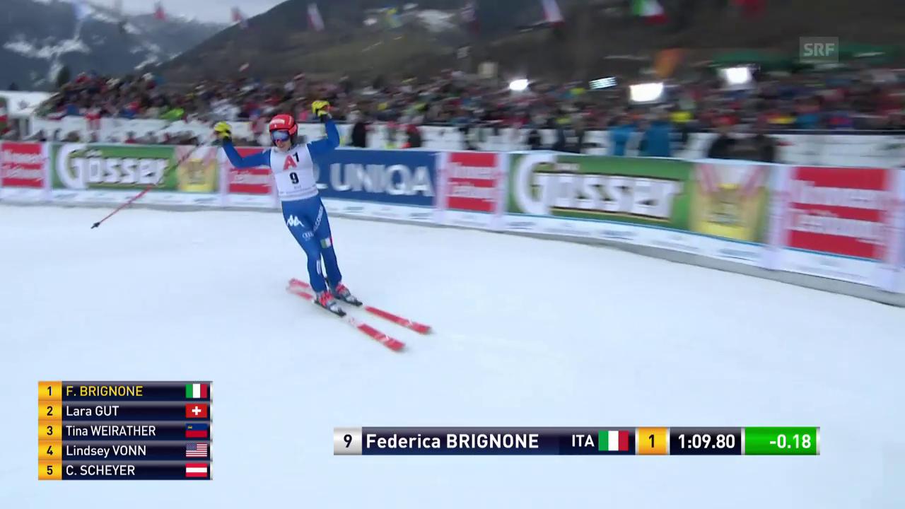 Die Siegesfahrt Federica Brignone