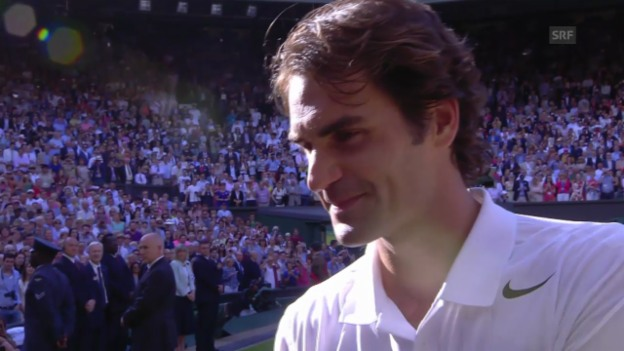 Video «Tennis: Wimbledon, Interview mit Roger Federer» abspielen