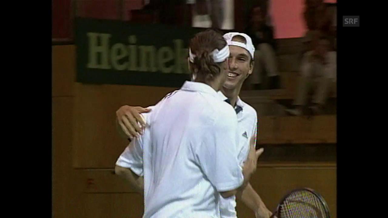 2000: Federer/Manta schlagen Mirnyi/Voltschkow