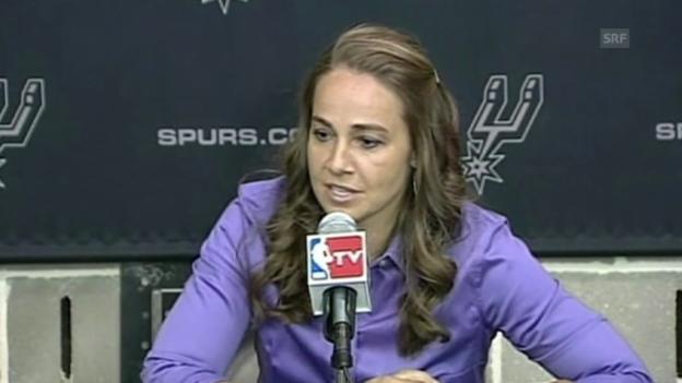 Video «Basketball: Spurs-Assistenztrainerin Hammon zu ihren Herausforderungen» abspielen