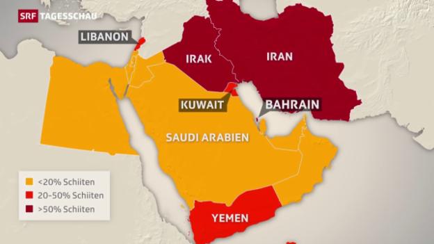 Video «Der Graben zwischen Sunniten und Schiiten» abspielen