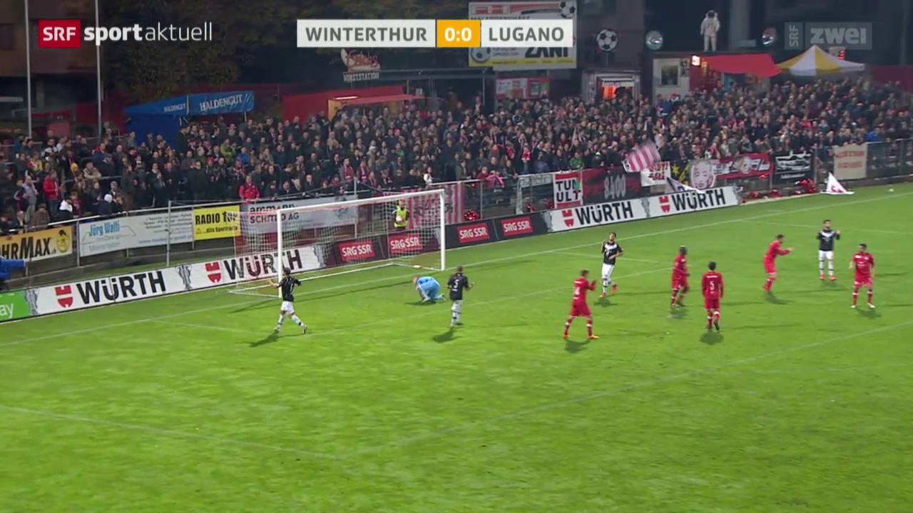 Fussball: Cup, Winterthur - Lugano